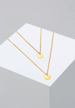 LAYERING PLÄTTCHEN - Halskette - goldfarben
