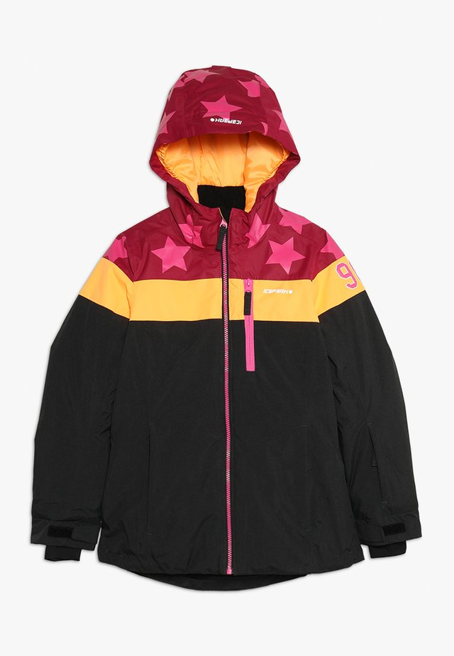 LANE  - Ski jacket - bordeaux/grey/orange