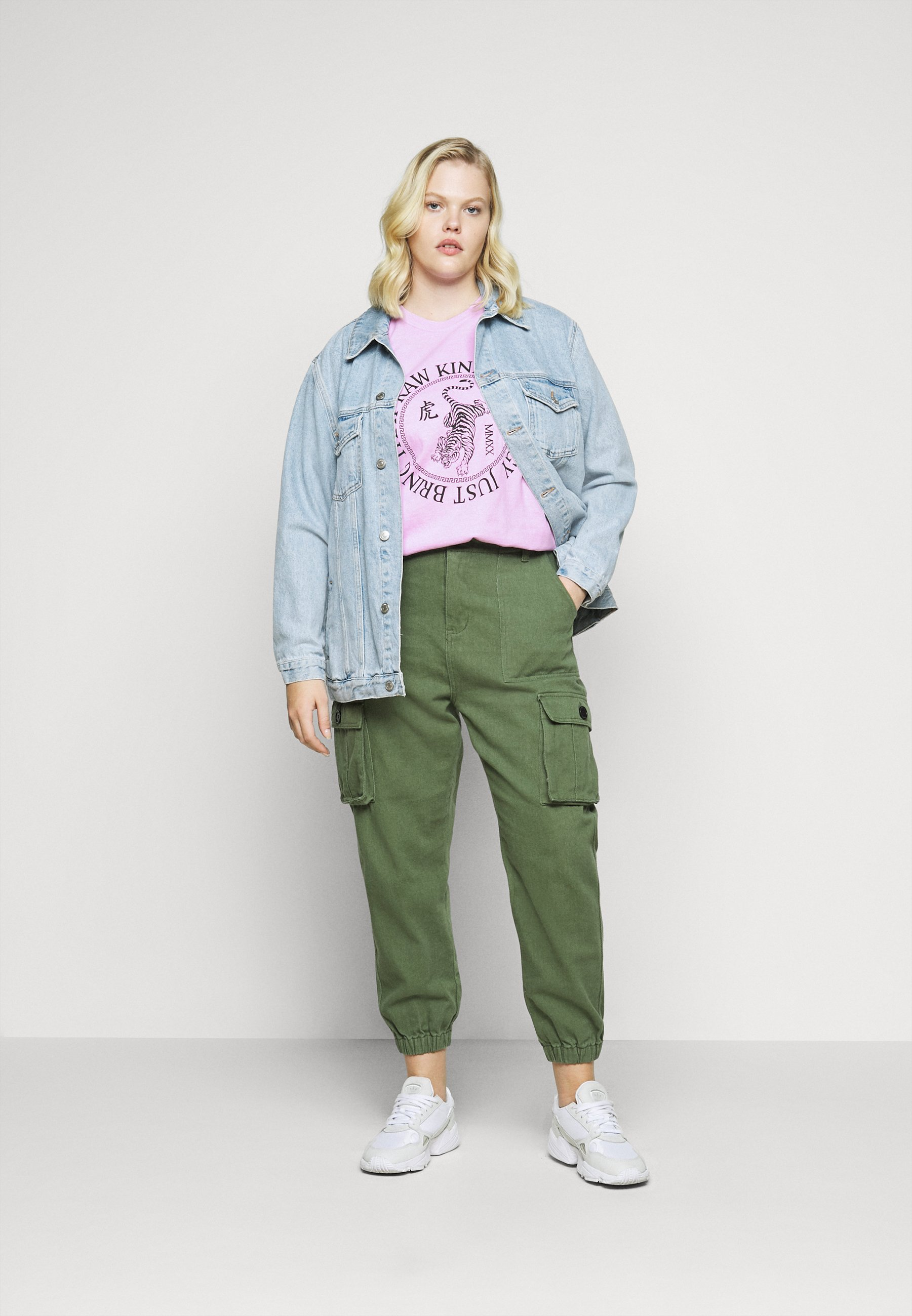 Missguided Plus Raw Energy Graphic - T-shirts Med Print Lilac/syrin