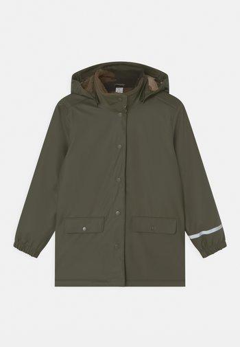 RAINCOAT SCHOOL UNISEX - Waterproof jacket - dark khaki green