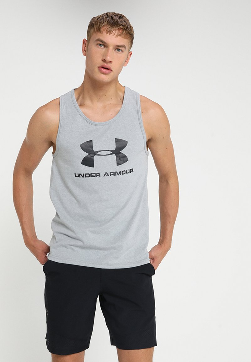 Under Armour - SPORTSTYLE LOGO TANK - T-shirt de sport - grey