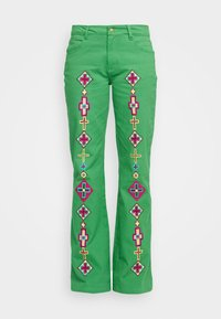 Stieglitz - EVITA PANTS - Flared Jeans - green - 7