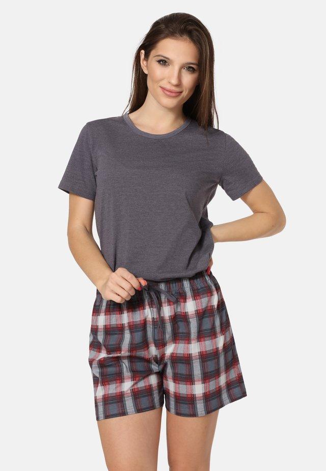 Pyjama - dark melange/bordeaux