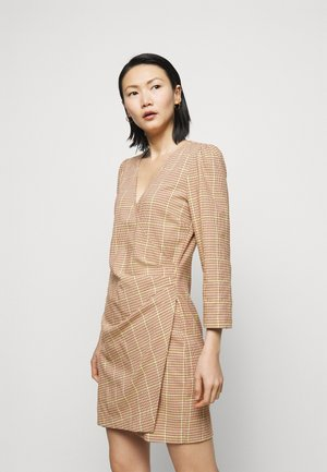 ABITO CREPE - Shift dress - beige/yellow