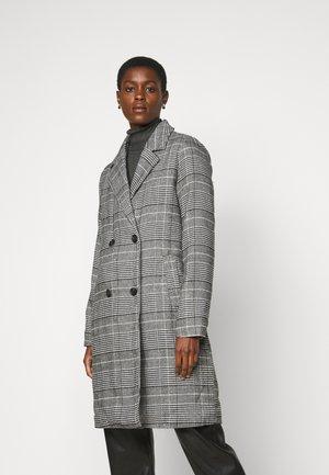 ONLARABELLA CHECK TEDDY COAT TALL - Classic coat - black
