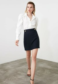 Trendyol - A-line skirt - navy blue - 3