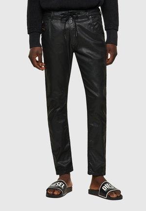 KROOLEY - Spodnie materiałowe - black/dark grey