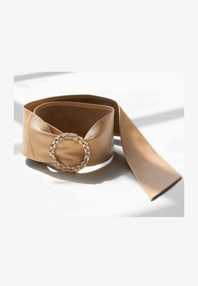 WIDE LEATHER  - Waist belt - off-white