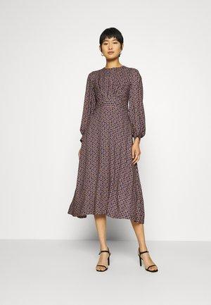 PUFF SLEEVE A-LINE DRESS - Denní šaty - purple