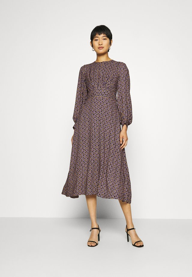 PUFF SLEEVE A-LINE DRESS - Day dress - purple