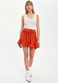 DeFacto - A-line skirt - bordeaux - 1
