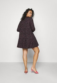 Simply Be - SOFT TOUCH TIERED SMOCK DRESS - Jerseykjole - dark red - 2