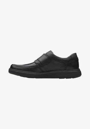 Smart slip-ons - black leather
