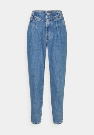 SEAMED MOM - Jeans baggy - mid blue