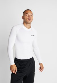 Nike Performance - PRO TIGHT MOCK - Funktionsshirt - white/black - 0