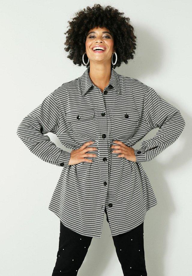 Button-down blouse - schwarz,weiß
