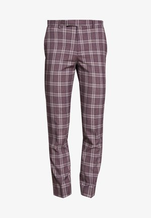 DARWIN SUIT BURG - Suit trousers - purple melange
