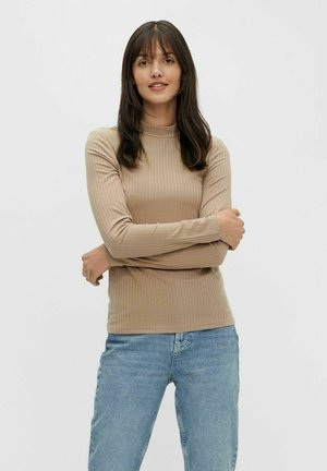 PCKYLIE T NECK - Long sleeved top - silver mink