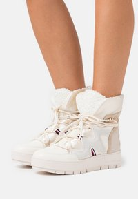 Tommy Hilfiger - Lace-up ankle boots - ecru - 0