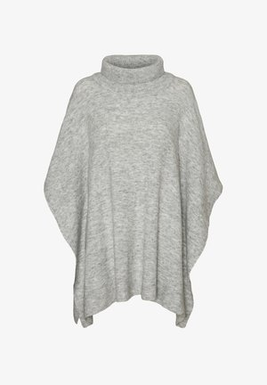 VMKRISTINA PONCHO - Ponczo - light grey melange