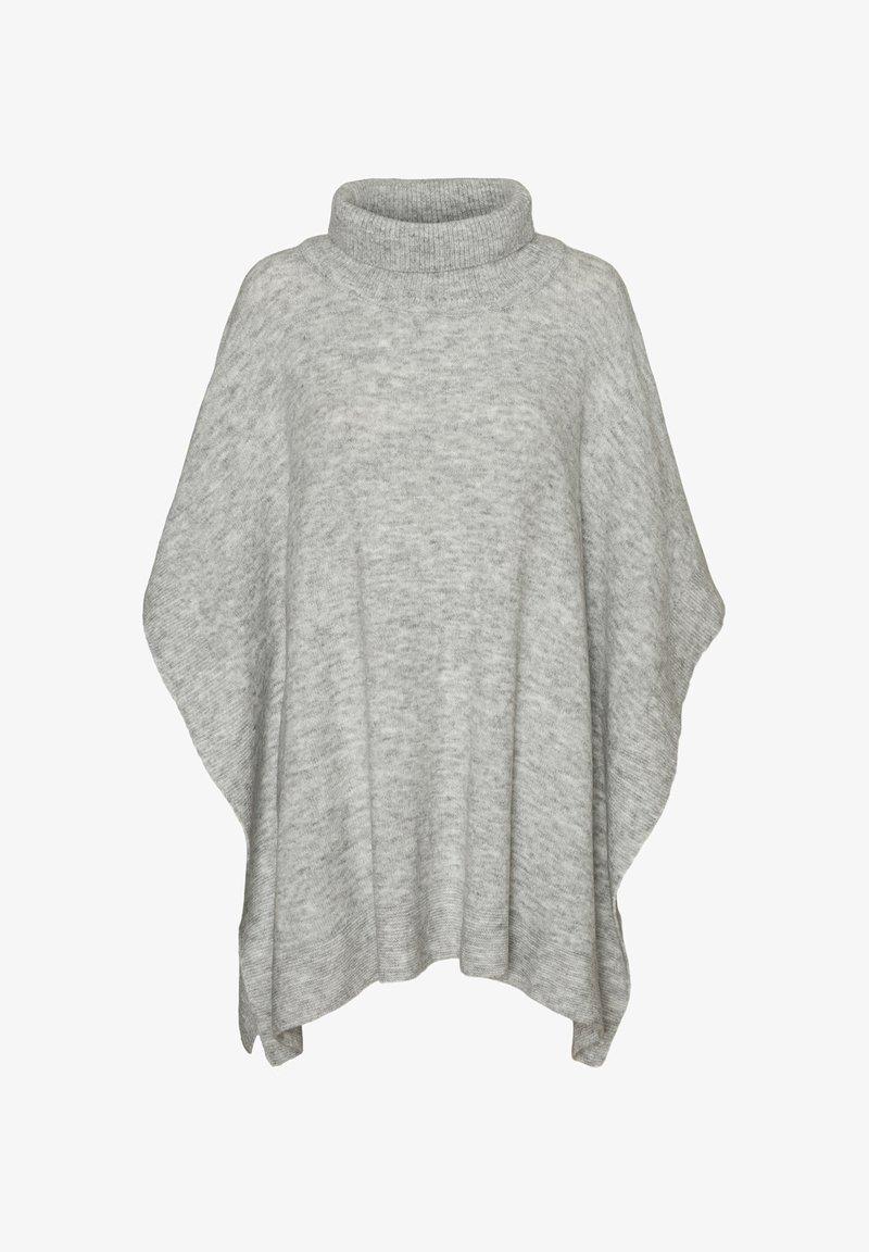 Vero Moda - VMKRISTINA PONCHO - Cape - light grey melange