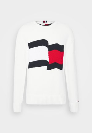 BIG GRAPHIC SWEATER - Neule - ivory