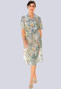 Alba Moda - Day dress - creme-weiß,lindgrün,grau - 1