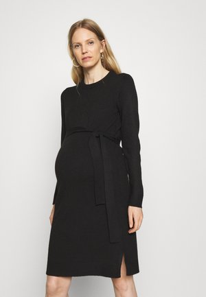PCMCAVA O NECK DRESS - Jumper dress - black