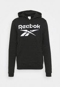 Reebok - HOODIE - Sweatshirt - black/white - 3
