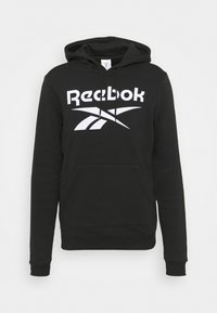 HOODIE - Sweatshirt - black/white