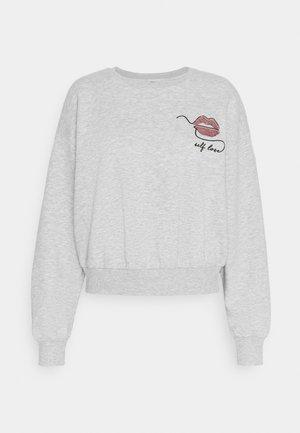 ONLZITA LIFE SHORT LIPS BOX - Sweater - light grey melange