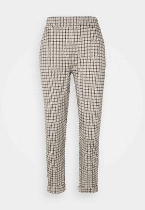 HESTER INTERLOCK HOUNDSTOOTH - Pantaloni - light beige