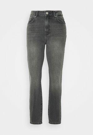 NMISABEL ANKLE MOM - Straight leg jeans - dark grey denim