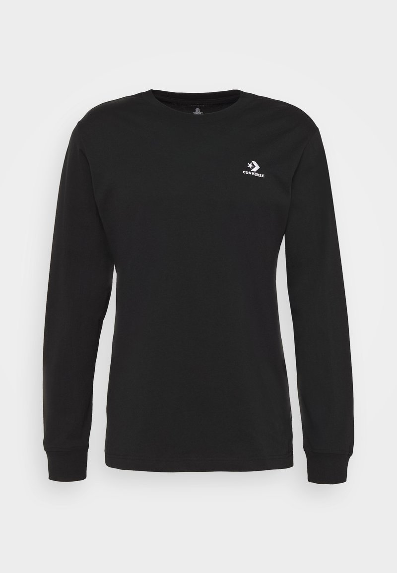 Converse - MENS STAR CHEVRON LEFT CHEST LONG SLEEVE  - Long sleeved top - black