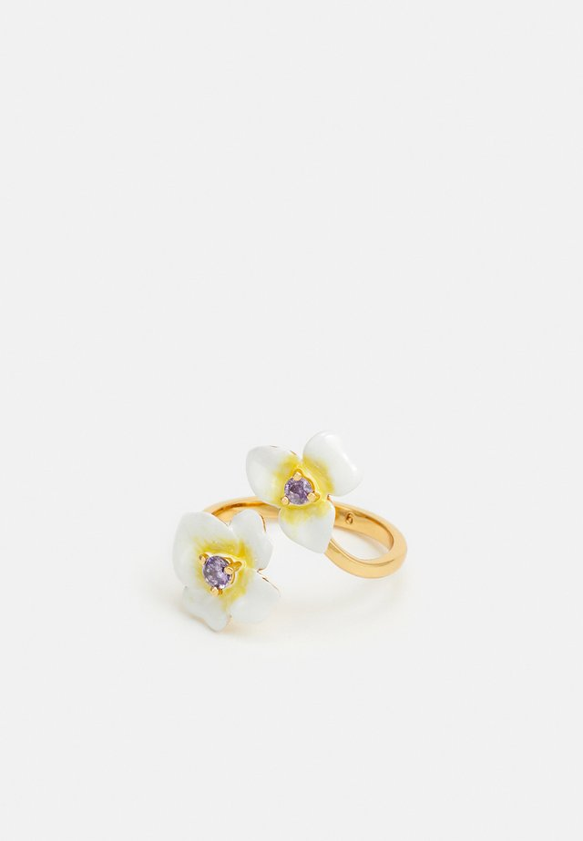 PRECIOUS PANSY RING - Ringar - off white
