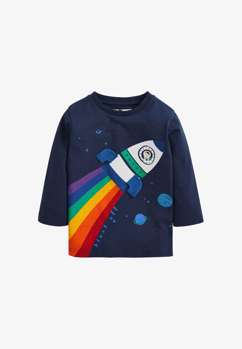 Next - RAINBOW ROCKET - Print T-shirt - blue