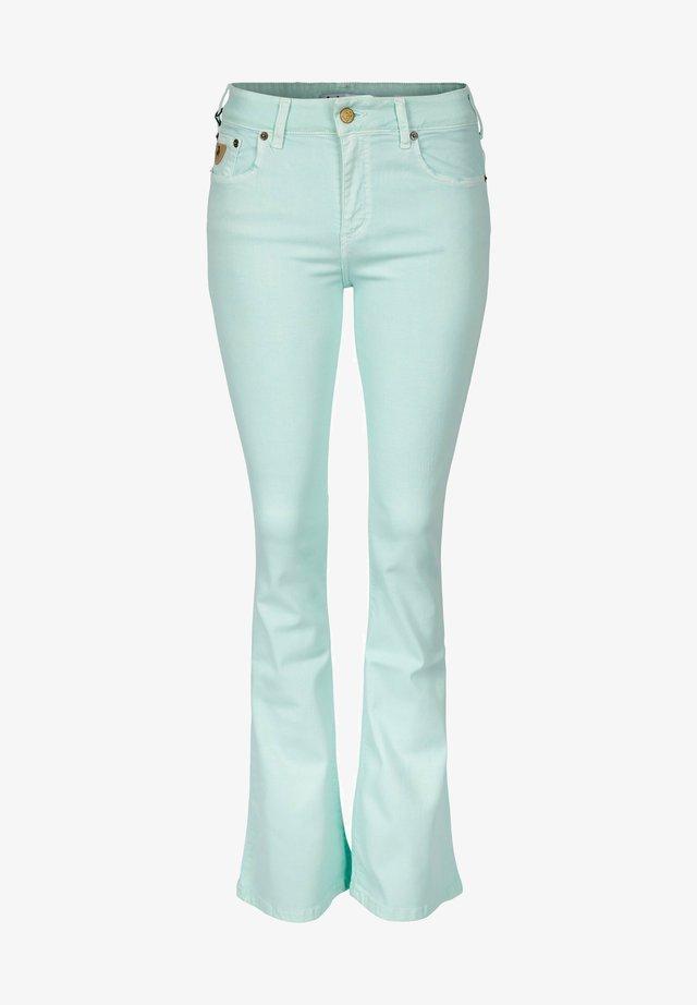 Jeans bootcut - pastel green