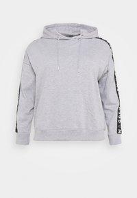 Missguided Plus - SLOGAN LOUNGE HOODIE - Sweatshirt - grey marl - 0