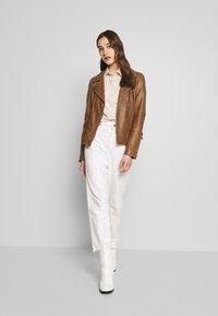 Oakwood - ADELE - Leather jacket - cognac - 1