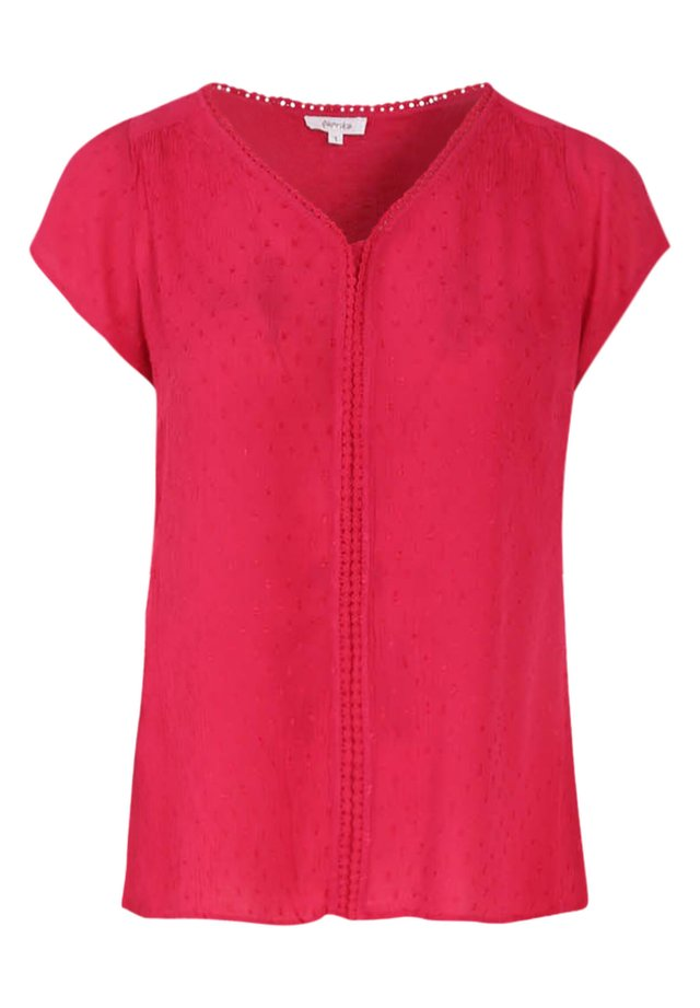 MIT STICKEREI - Blouse - fushia