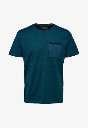 Camiseta estampada - teal