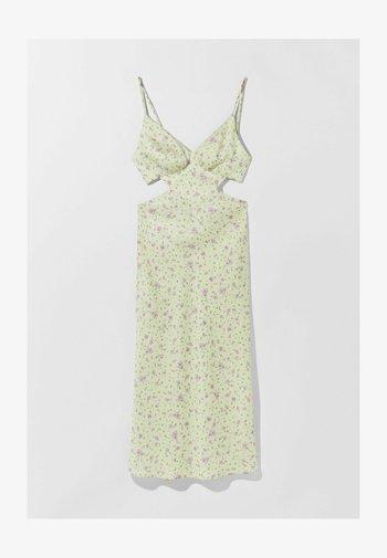 MIT BLUMEN - Denní šaty - light yellow