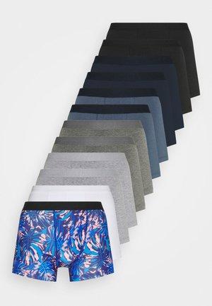 12 PACK - Boxerky - dark blue/blue/mottled grey