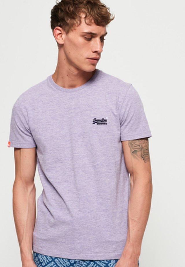 Basic T-shirt - pale lilac mottled