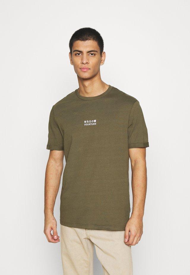 Print T-shirt - olive