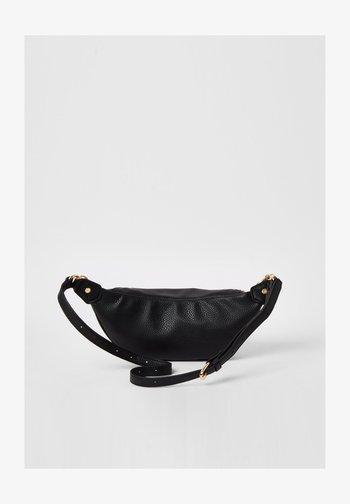BLACK LAYERED CHAIN AND CHARM BUMBAG - Bum bag - black