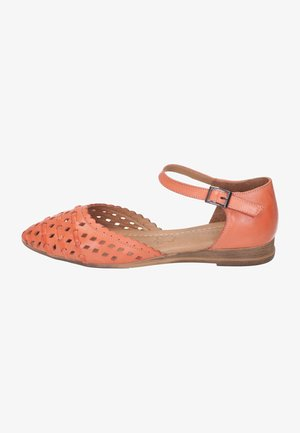 Ankle strap ballet pumps - orange