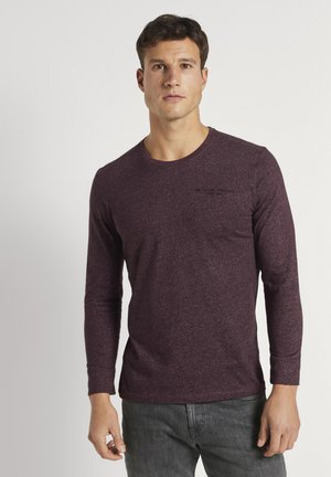 Long sleeved top - dusty wildberry red