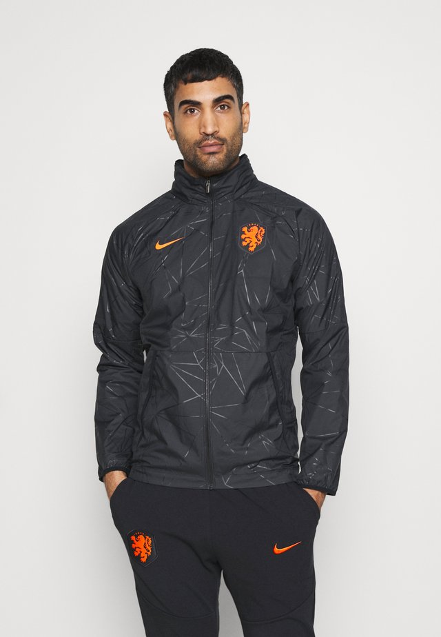 NIEDERLANDE KNVB  - Trainingsjacke - black/safety orange