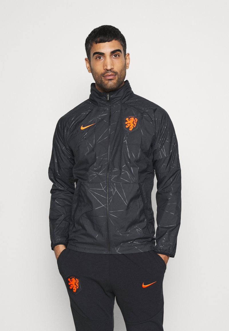 Nike Performance - NIEDERLANDE KNVB  - Training jacket - black/safety orange